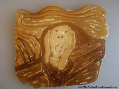 The scream as a pancake…click for more.