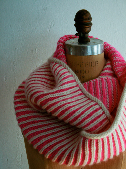 Knit Inspiration: Brioche Hat Cowl - the purl bee. Cute, cute, fun, delicious!