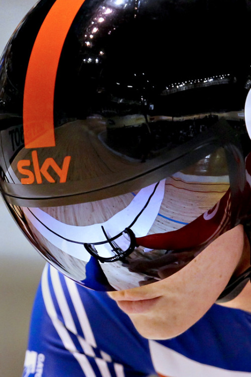 Victoria Pendleton of Britain gets ready in the Women's Sprint heats at the 2012 Track Cycling World Championships in Melbourne on April 5, 2012. (via Cycling - Photo Gallery - Yahoo! Sports)