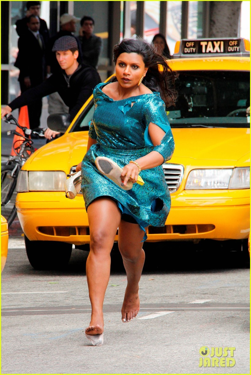 "imwithkanye:  Mindy Kaling filming the pilot episode of her new show on FOX. The show, also featuring Ed Helms, is about ""a young OB/GYN doctor who balances her personal and professional life"" in a small office. [via]"
