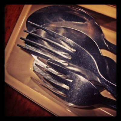 I'm gonna eat again! :) #spoon #fork #kain #sarap #delicious #photography #yummy #eat #meal #nomnom #gutom #bored #haha  (Taken with instagram)