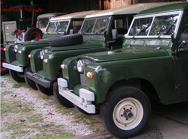 Sweet gang of Land Rovers