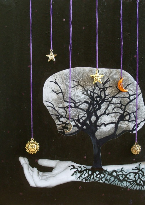 Rachel Green,Tree of Life, 2012, Mixed media,  I have finally finished my Tree of Life piece!! Loosely based on the Myan stories that surround it, lots of inspiration gained from 'The Fountain' film and graphic novel. My first big piece of the year - slowly but surely! Enjoy!