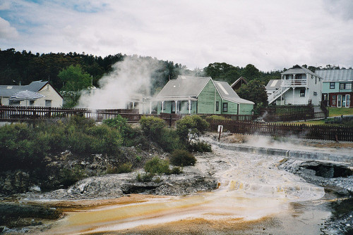 citiesinflames:  Rotorua (It reeked) by muptup on Flickr.