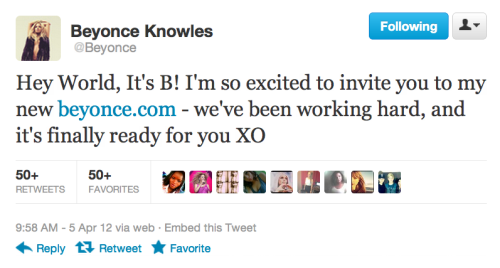 imwithkanye:  Also, this happened. (04/05/12: The day Beyonce took over the Internet.)