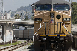 Railroad Sensors Predict Derailments Wirelessly « Wireless Sensor Networks Blog Union Pacific, the nation's largest railroad company, says a new software program deployed throughout its network can now predict certain kinds of derailments days or weeks before they are likely to occur, improving safety and potentially avoiding millions of dollars in damages. The company moves some 900 trains per day, including 175 per day in its central north-south corridor. Union Pacific first started using acoustic sensors 10 years ago to transmit noises from vibrations of ball bearings in train wheels back to a control center that can communicate directly with engineers on board the trains. This allows the company to get trains off the track at the earliest convenient opportunity (for example after a load is delivered and the car returns to a terminal), but before a faulty bearing causes a derailment. More recently, the company started using visual sensors that can detect when wheels begin to flatten–another factor that can cause an problem on the rails.