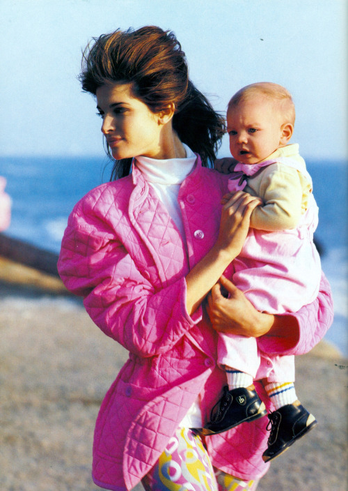 "stephanie-seymour:  Stephanie Seymour""In The Pink"", Vogue US, April 1991Photographer : Isabel SnyderMakeup : Jo Strettell for Trish McEvoyHair : Troy Halterman for Oribe at Elizabeth Arden"