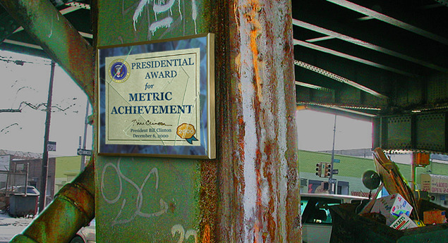 theonion:  Metric System Thriving In Nation's Inner Cities  WASHINGTON, DC–Despite other academic shortcomings, inner-city youths possess a firmer grasp of the metric system than their peers in suburban and rural areas, according to a Department Of Education study released Monday.  More.