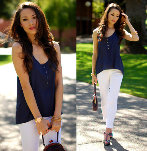 lookbookdotnu:  Downtown (by Jessica R.)  I want her hairrr