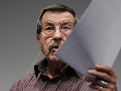 "wherismymind:  BERLIN — German Nobel literature laureate Gunter Grass touched off a firestorm of protest Wednesday with a poem accusing Israel of plotting Iran's annihilation and threatening world peace. The 84-year-old longtime leftist activist wrote in ""What must be said"" that he worried Israel ""could wipe out the Iranian people"" with a ""first strike"" due to the threat it sees in Tehran's disputed nuclear program. ""Why do I only say now, aged and with my last ink: the atomic power Israel is endangering the already fragile world peace?"" reads the poem, which appeared in the daily Sueddeutsche Zeitung. Mr. Grass answers that Nazi Germany's ""incomparable"" crimes against Jews and his own fear of accusations of anti-Semitism kept him from openly criticizing Israel. But now, ""tomorrow could already be too late"" and Germany could become a ""supplier to a crime,"" Mr. Grass wrote, referring to a deal sealed last month for Berlin to sell Israel a sixth nuclear-capable Dolphin-class submarine. ""I admit: I will be silent no longer, because I am sick of the hypocrisy of the West."" Israel slammed the poem, which also sparked a fevered debate on German-language news and culture websites. ""What must be said is that it belongs to European tradition to accuse the Jews of ritual murder before the Passover celebration,"" said Emmanuel Nahshon, Deputy Chief of Mission at the Israeli embassy in Berlin, in a statement. ""We want to live in peace with our neighbours in the region. And we are not prepared to assume the role that Gunter Grass assigns us in the German people's process of coming to terms with its history."" The Israel director of the Nazi-hunting Simon Wiesenthal Centre, Efraim Zuroff, accused Mr. Grass of making himself the spokesman ""for anti-Semitic Germans sick of the Holocaust and seeking to rid themselves of any responsibility for its aftermath."" German Foreign Minister Guido Westerwelle released a statement without mentioning Mr. Grass by name in which he warned against ""making light of the dangers of the Iranian nuclear program."" Mr. Grass, author of the renowned anti-war novel The Tin Drum, shocked his admirers in 2006 when he admitted, six decades after World War II, that he had been a member of the notorious Waffen SS — a revelation that severely undermined his until then substantial moral authority in Germany. The country's most influential media commentators were unanimous in their criticism. The website of news weekly Der Spiegel wrote, ""Never before in the history of the republic has a prominent intellectual waged a battle against Israel in such a cliche-ed way."""