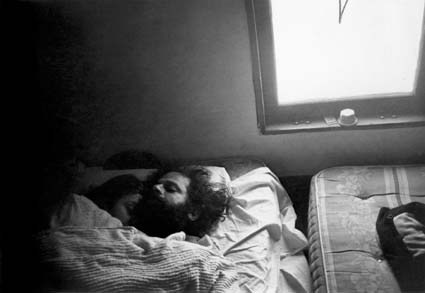 Allen Ginsberg and Peter Orlowsky, Kansas City, 1966.  with love Allen..