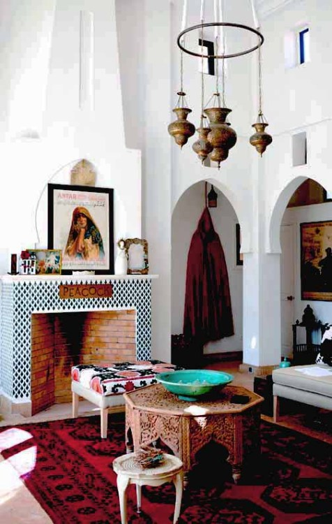 Not my usual style but this moroccan-themed room is amazing!