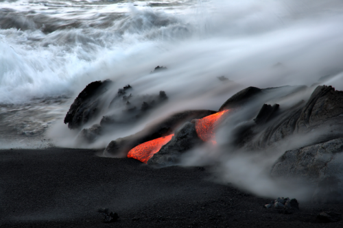 Volcanoes are monuments to Earth's origin, evidence that its primordial forces are still at work. During a volcanic eruption, we are reminded that our planet is an ever-changing environment whose basic processes are beyond human control. As much as we have altered the face of the Earth to suit our needs, we can only stand in awe before the power of an eruption.Hawaiʻi Volcanoes National Park is a fascinating world of active volcanism, biological diversity, and Hawaiian culture, past and present.Photo: Yvone Baur, National Park Service
