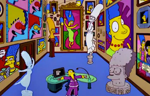 We are LOVING Flavorpills 'Simpsons' Guide to Art History…This shrine to Marge is our favorite with all the Calder, Lichtenstein, and Warhol references!