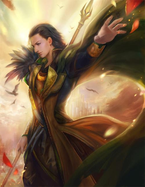 Born to ruleby ~jiuge  Yess!  jiuge finished Loki!  I have the Thor print that she did hanging above my TV.