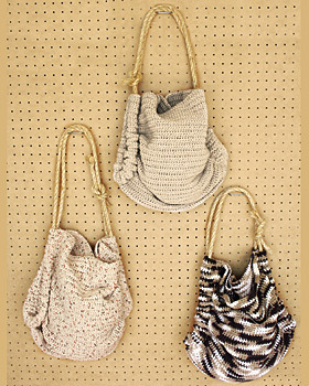 hooked-on-needles:  (via Crochet Summer Tote | FaveCrafts.com) stuff would fall out of it, wouldn't it?  you would need to sew the sides.
