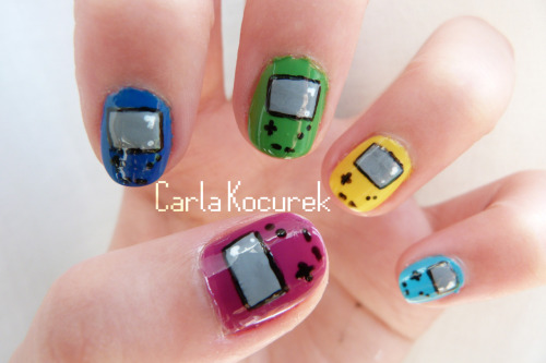 gameboy nails