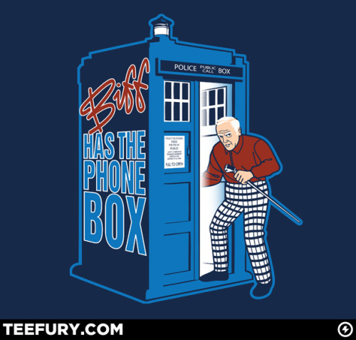 I don't think there will ever be a bad time travel cross over T-Shirt. I wonder what a conversation between Doc Brown and Doctor Who would be like?
