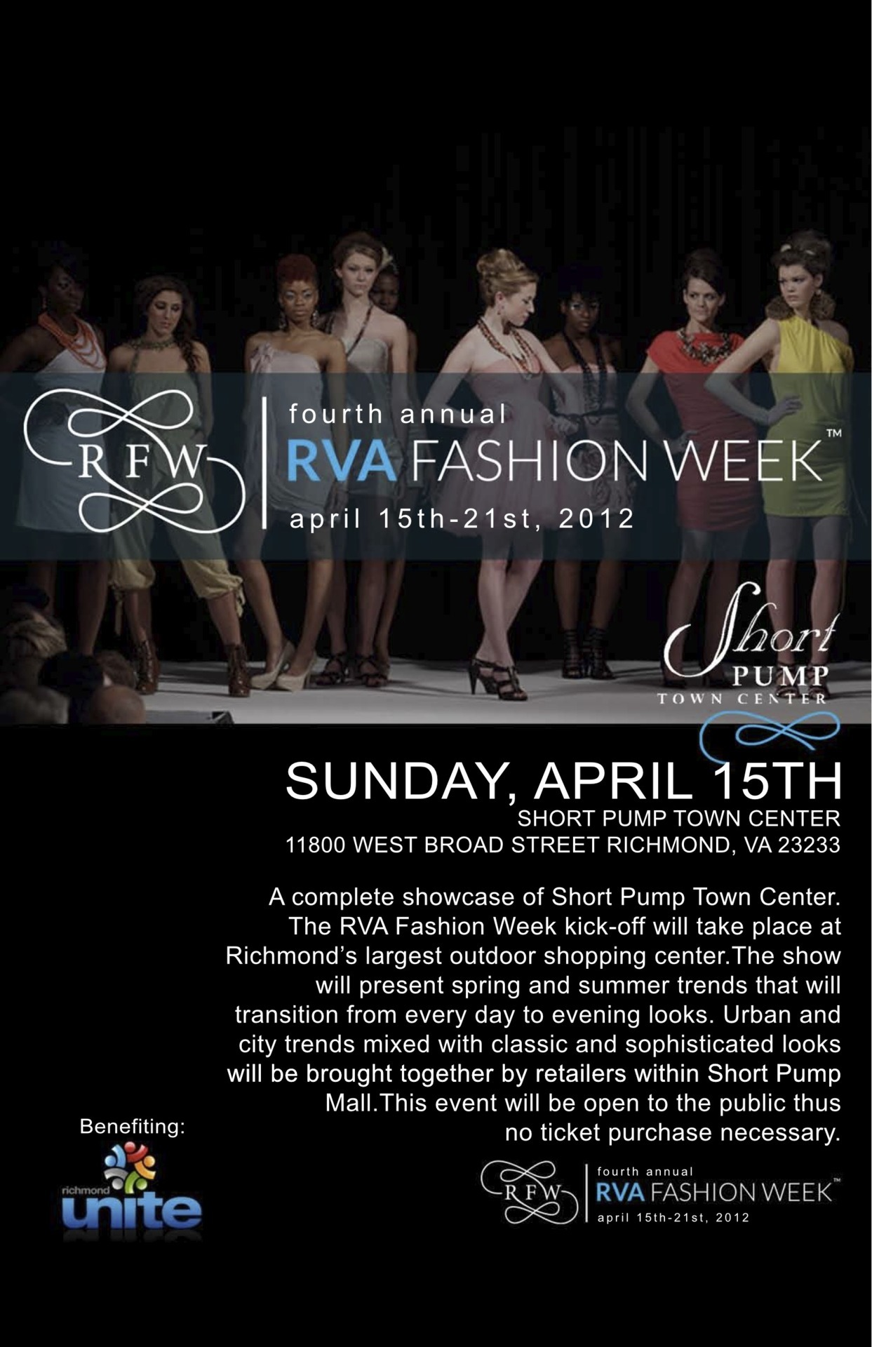 RVA Fashion Week starts on April 15th! Don't miss out!