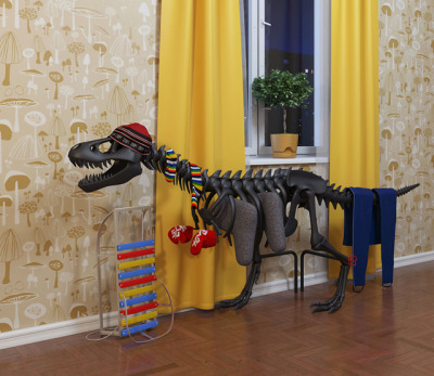 laughingsquid:  Thermosaurus, A Wonderful Radiator That Looks Like a Tyrannosaurus  DAT WALLPAPER.