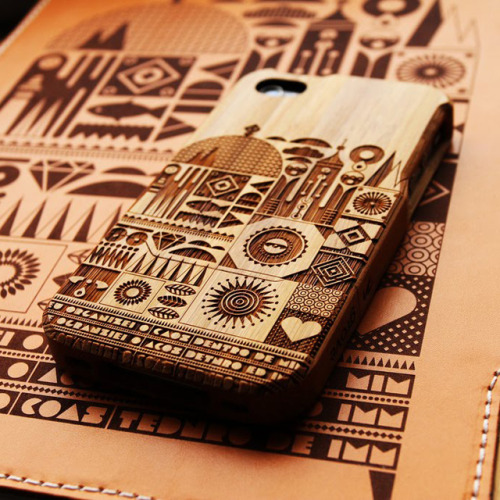 Lazer cut wood iPhone case. So Pretty!