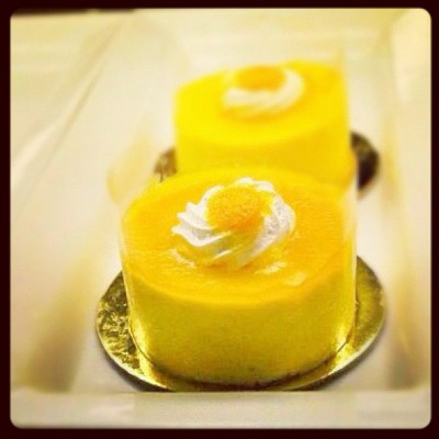 Layered Mango Moussoline #food #sarap #bo's #coffeehouse #nom #tasty #dessert #haha #gutom #bored #meal #kaon #kain #eat #iphoto #photography #slurrp #yummy #delicious #sarap #pleasure #guiltypleasure #mango #yellow #cream  (Taken with instagram)