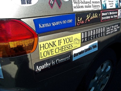 "Har!  ""Honk if you love cheeses"""