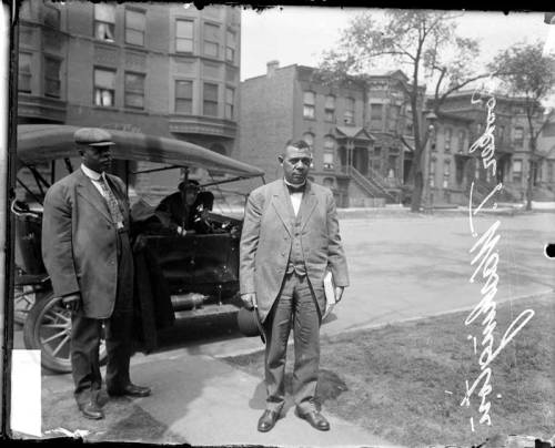 chicagohistorymuseum:  Booker T. Washington in Chicago, 1911. Photograph from the Chicago Daily News. Want a copy of this photo?> Visit our Rights and Reproductions Department and give them this number: DN-0056935  Now I know Mista W.E.B. had some qualms with this here fine sir, and I will be getting to him soon enough, but for them moment  Booker T. has me absolutely enthralled.