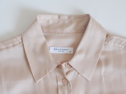 My Equipment blouse in blush pink satin, I swear that's the last color I need Blog Post: A Minimum Of Things « Photo by Decade Diary