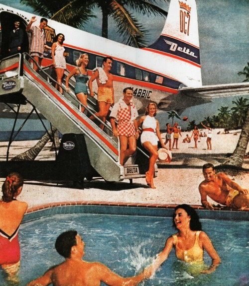 Delta To Miami 1958… how's that for poolside service?