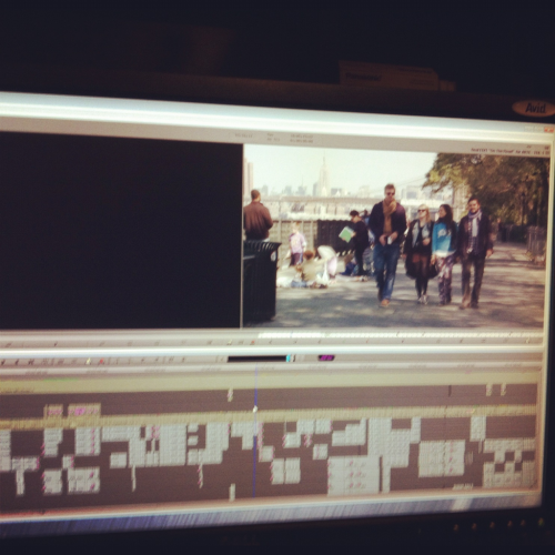 Final stage of editing! Here's our stars walking into episode 1!