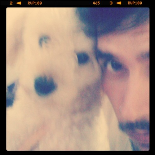 Me & Lilow #puppy #pet #animal #dog #friend #bestoftheday #instagram #colors #instagood #happy #kids #inkstagram #cool #blur #Thursday #brazil #cold #sweet #cute  (Taken with instagram)