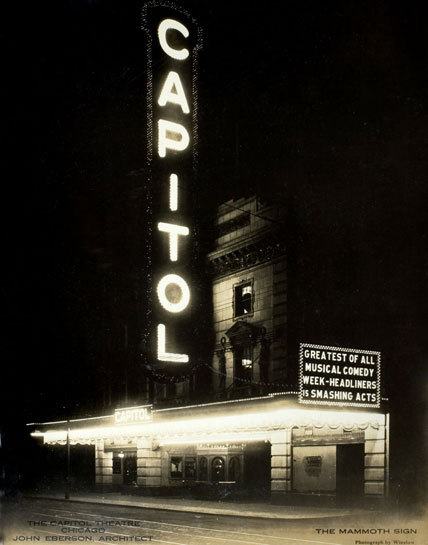 calumet412:  The Capitol Theater, 7921 S Halsted, c.1925, Chicago. Ryerson and Burnham Archives; 000017_100714-009.jpg