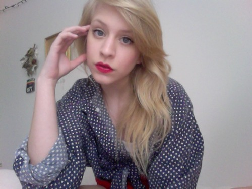 After watching Lolita last night I realized how much I need red lippy