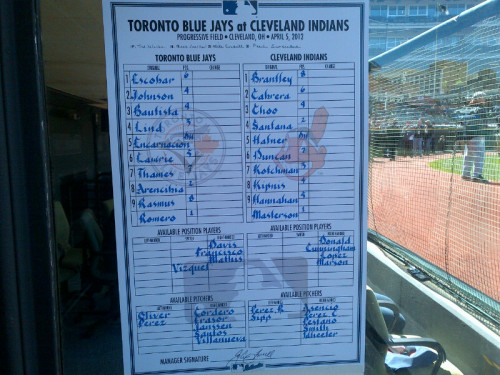 torontobluejays:  #OpeningDay  Wakamatsu's calligraphy is one of my favourite things.