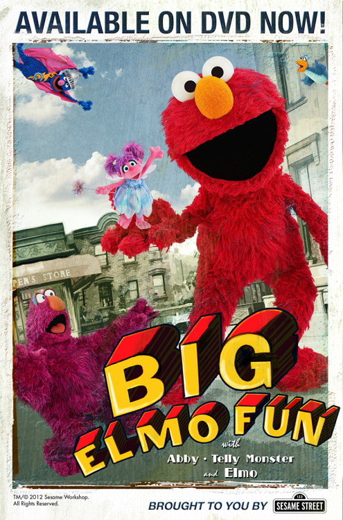 sesamestreet:  Here's some more big Big Elmo Fun fun!  Attack of the 50 Foot Muppet