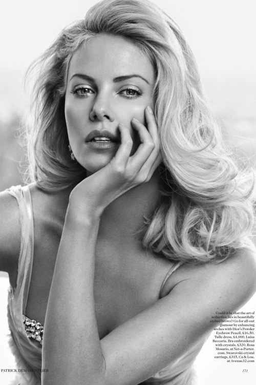 Charlize Theron by Patrick Demarchelier - Vogue UK May 2012