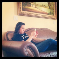 Kassandra and iPhone = kPhone (Taken with instagram)