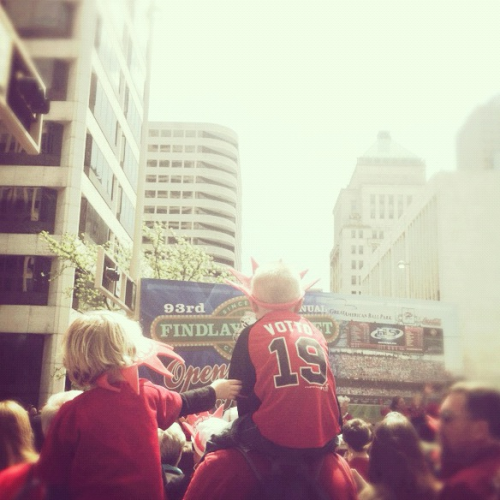 melisforlovers:  The little ones get so hyped for opening day.