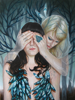 "My new painting ""Hide and Seek"" for an upcoming show at Ayden gallery in Vancouver, BC."