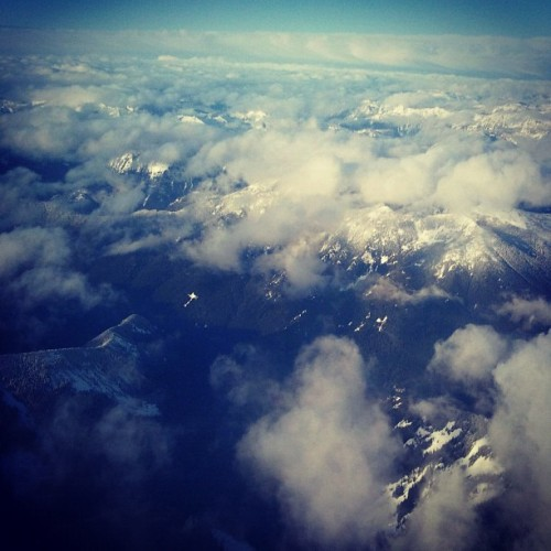 Picture my dad sent me while he was flying to Seattle. (Taken with instagram)