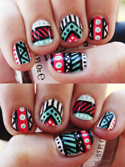 I want to try doing something like this with my nails soon.