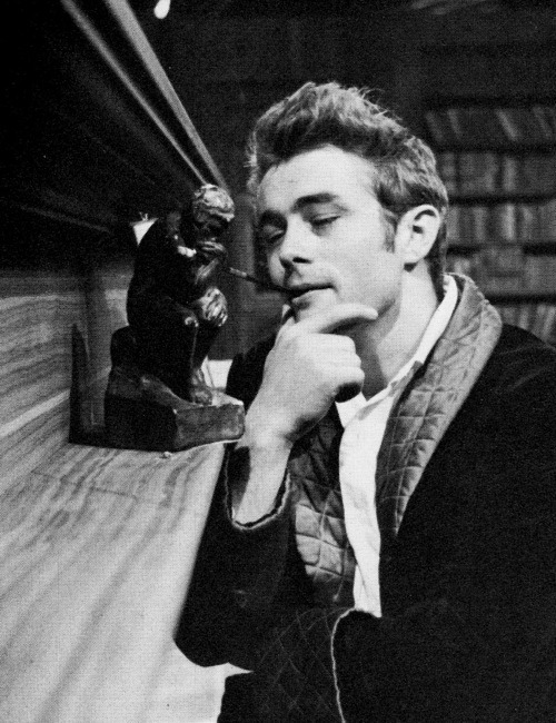 James Dean on set of The Thief