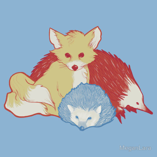 Fast Friends by MeganLara Available as a t-shirt, hoodie, or sticker. Kid-sized tees, too!