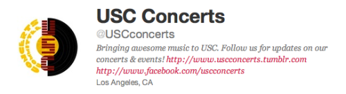 MAKE SURE TO FOLLOW US ON TWITTER, TOO!!! @USCconcerts