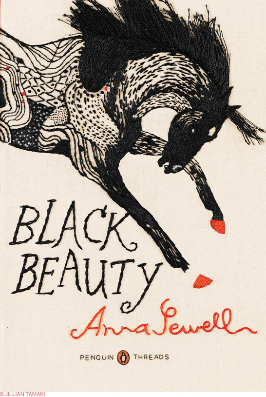 beatonna:  Beautiful book covers: Jillian Tamaki's Black Beauty
