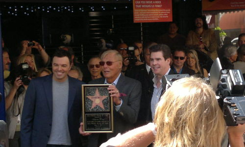 timdrakewayne:  alvetica:  Adam West  Congrats Adam West! It's about damn time they honored him with the star. All hail the Bright Knight.