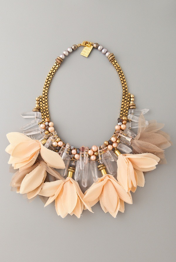 Wow, this statement necklace is just perfect for the upcoming season. I can just imagine everything I could wear this with. Lizzie Fortunato Jewels California Dreaming Necklace.