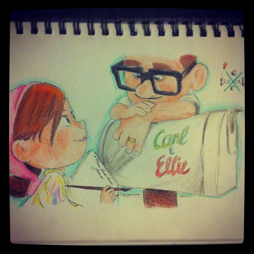 comeandbreakmyheart:  My Carl & Ellie drawing.