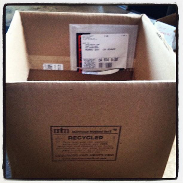 Morrocco Method uses recycled boxes from local businesses!